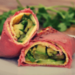 Wrap met rosbief en avocado